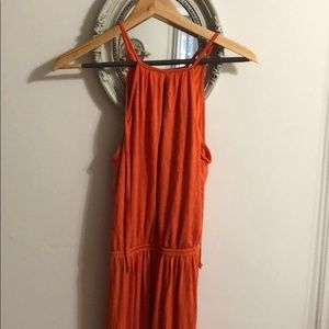 Bar III orange long dress